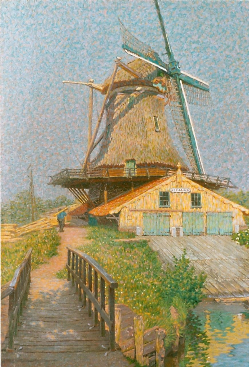 Breman A.J.  | Ahazueros Jacobus 'Co' Breman, Sawmill, oil on canvas 54.0 x 37.1 cm, signed l.l. and dated June 1905