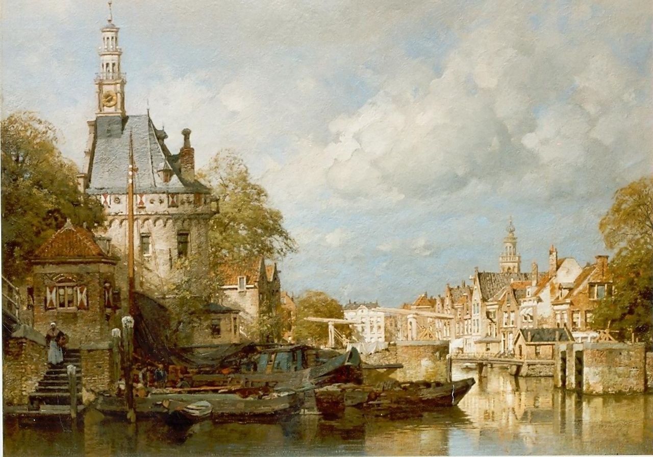 Klinkenberg J.C.K.  | Johannes Christiaan Karel Klinkenberg, The 'Oude Hoofdpoort', Hoorn, oil on canvas 58.0 x 78.0 cm, signed l.r.