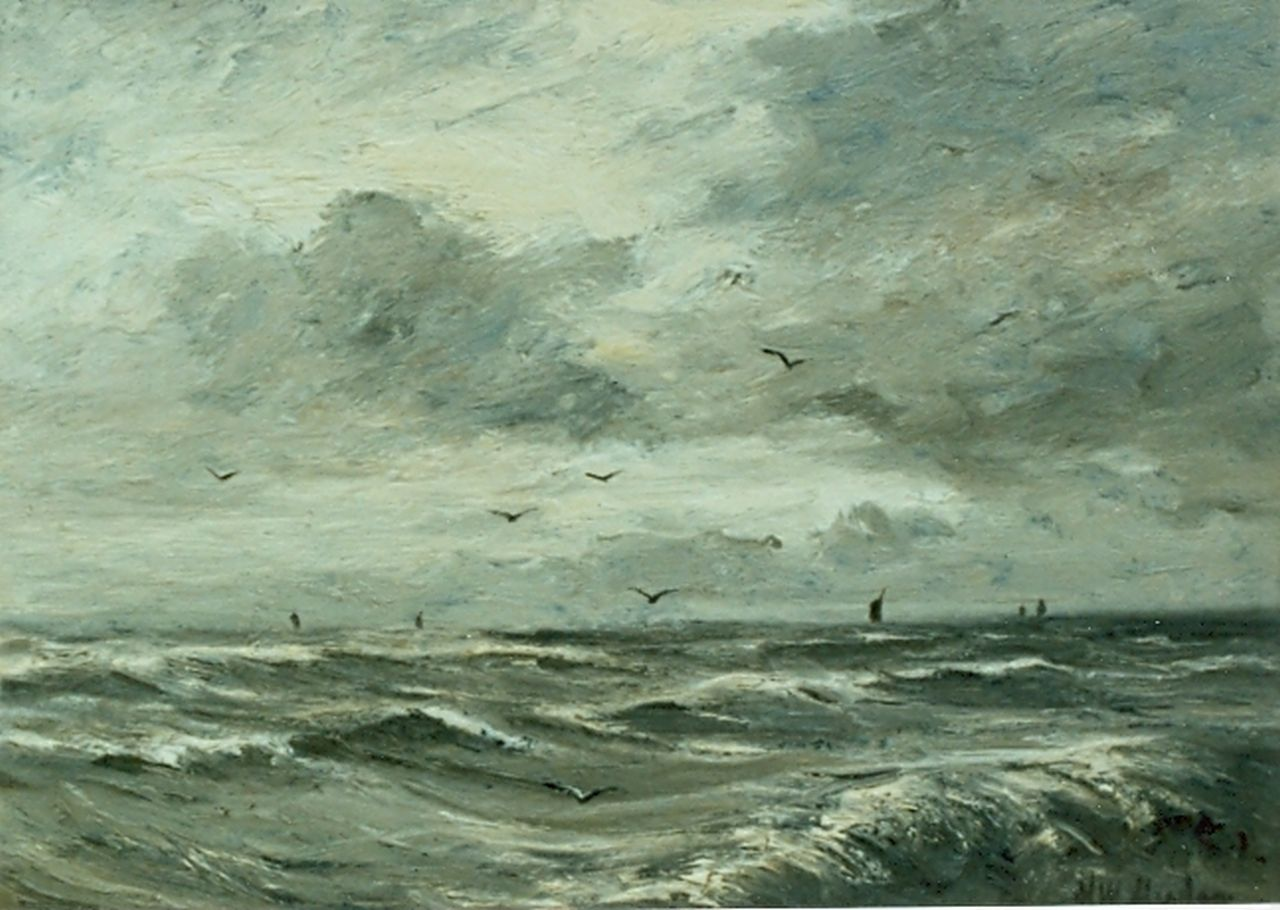 Mesdag H.W.  | Hendrik Willem Mesdag, Seascape, oil on panel 23.0 x 31.0 cm, signed l.r.