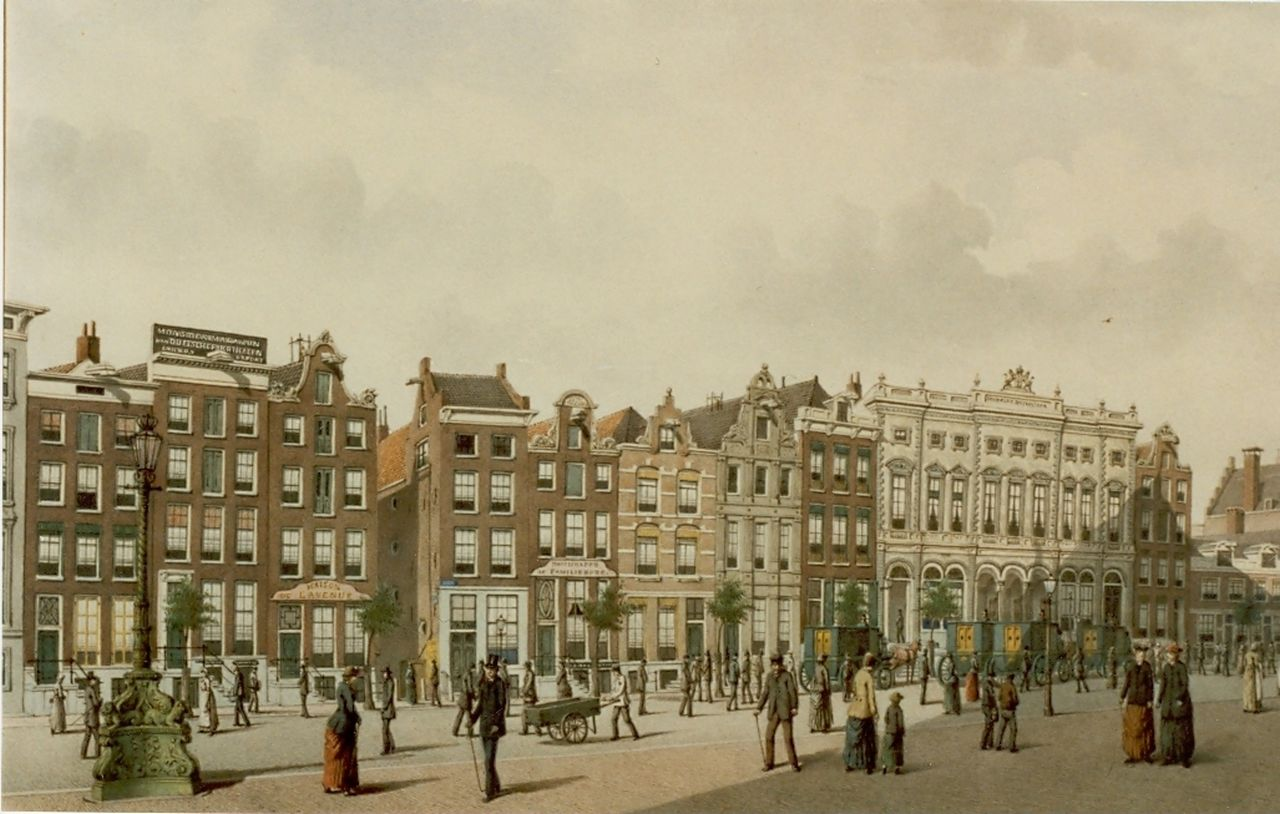 Rieke J.M.A.  | Johan Martinus Anthon Rieke, The post office, Amsterdam, watercolour on paper 32.5 x 50.5 cm, signed l.r.
