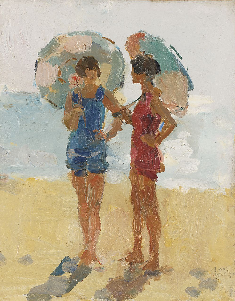 Israels I.L.  | 'Isaac' Lazarus Israels, At the beach, Viareggio, oil on canvas 50.4 x 40.5 cm, signed l.r. and painted between 1923-1934