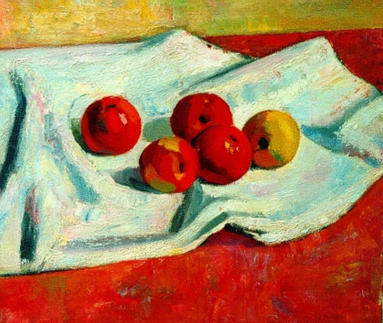 Dalen A. van | Aart van Dalen, A still life with apples, oil on canvas 55.0 x 60.2 cm