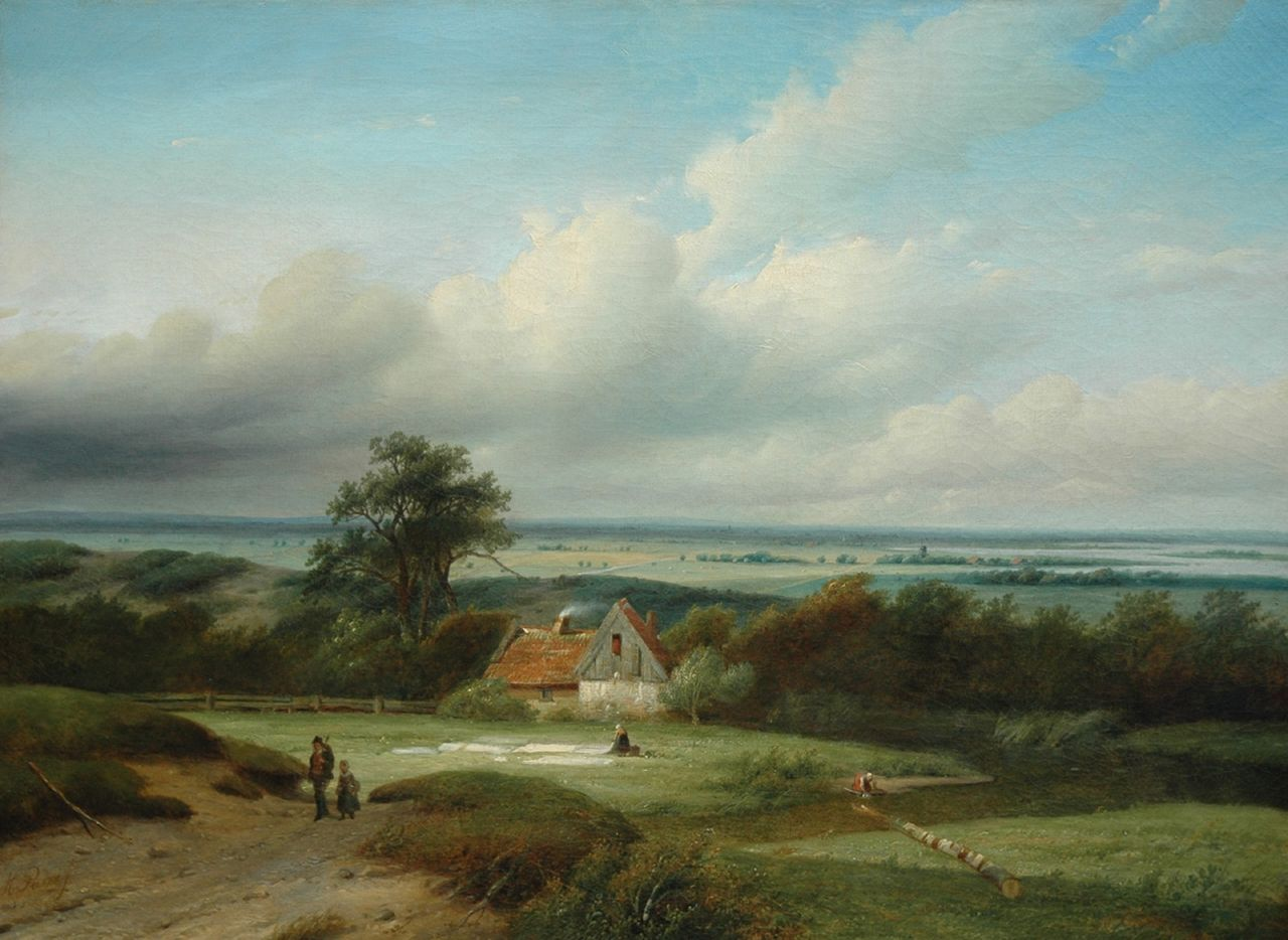 Parré M.  | Matthias Parré, Behind the dunes near Haarlem, oil on canvas 66.9 x 90.4 cm, signed l.l.