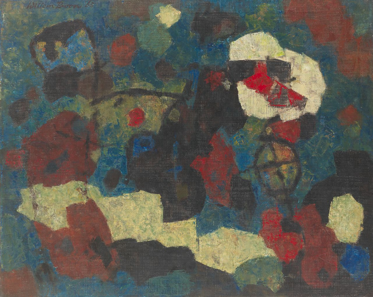 Willem Boon | Kompositie '65, oil on canvas, 80.2 x 99.8 cm, signed u.l. and dated '65