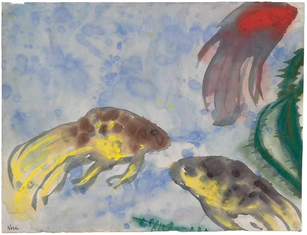 Emil Nolde | Veiltails (Aquarium), watercolour on Japanese paper, 35.8 x 47.0 cm, signed l.l. and painted in Berlin 1923-1924