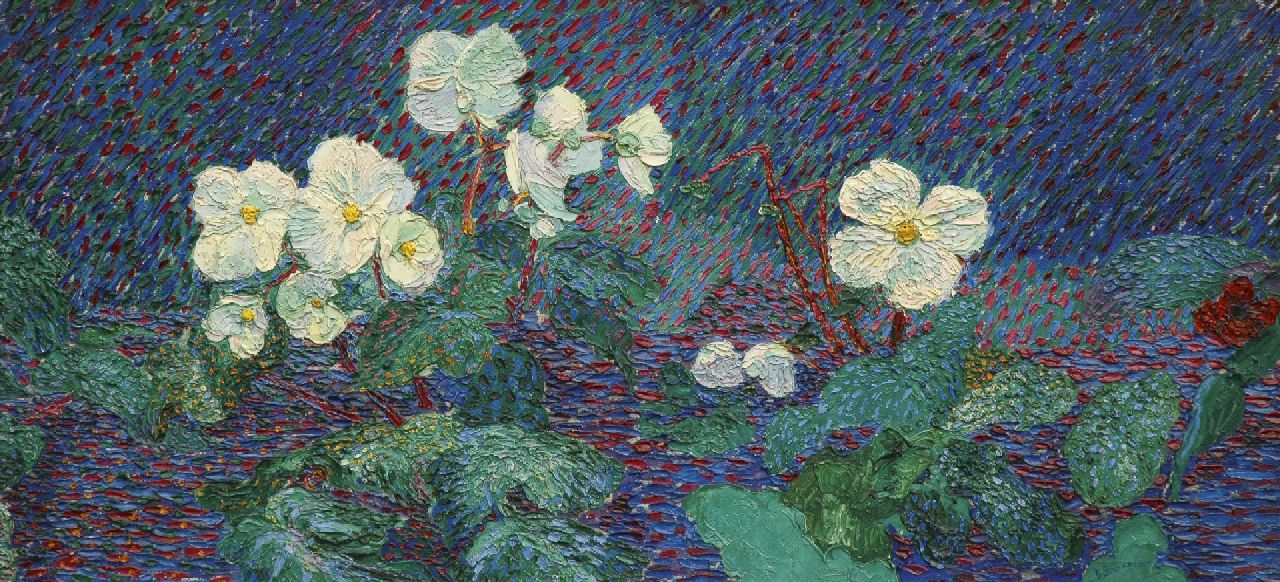 Smorenberg D.  | Dirk Smorenberg, Flowers, oil on canvas 49.2 x 104.2 cm, signed l.r. and painted ca. 1912-1914