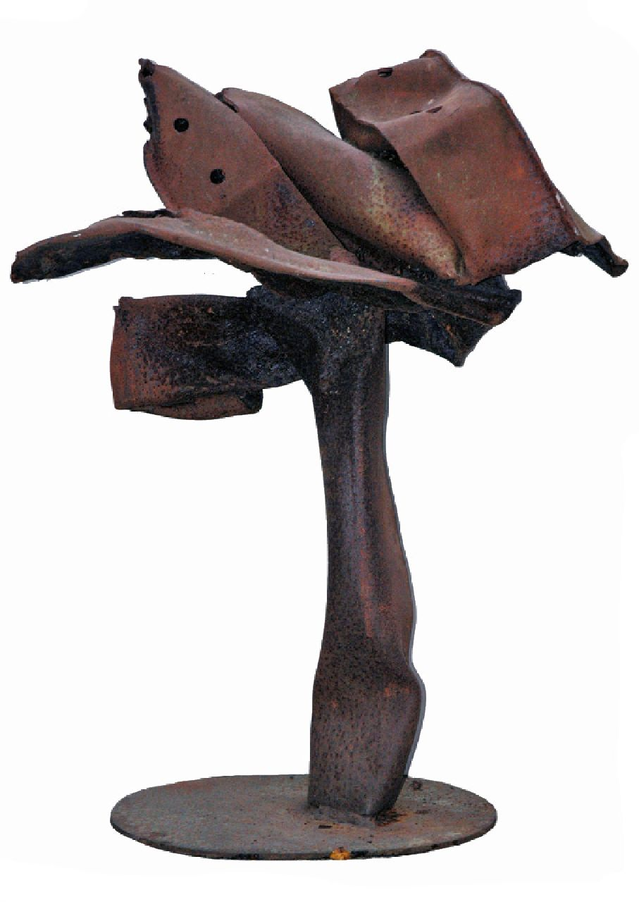 Niermeijer Th.  | Theo Niermeijer | Sculptures and objects offered for sale | Composition, oxidized steel 90.0 x 70.0 cm