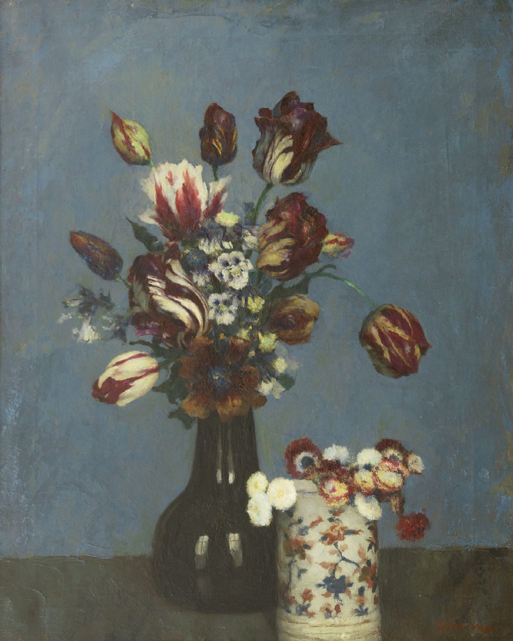 Walter Vaes | Still life with flowers, oil on canvas, 67.9 x 54.5 cm, signed l.r.