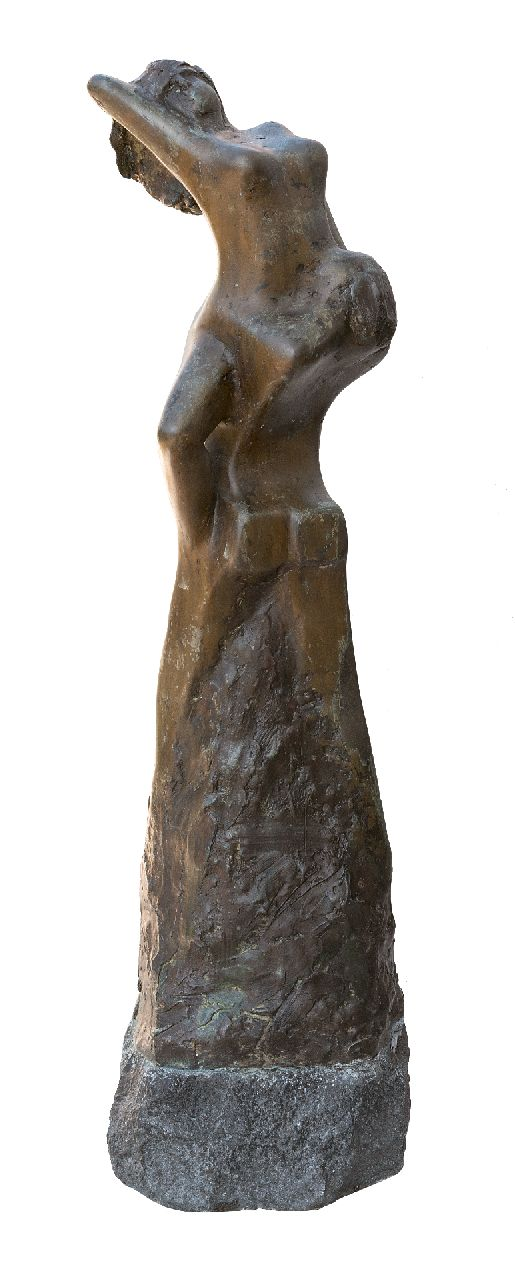 Bakker W.F.  | Willem Frederik 'Jits' Bakker | Sculptures and objects offered for sale | Abduction, bronze 68.5 x 21.0 cm, signed on the side
