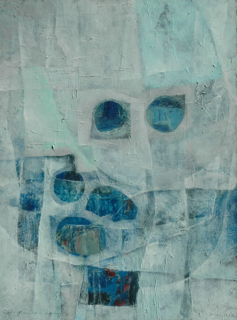 Ferdinand Sparnaay (Ferdinand Fernay) | Hommage to Paul Klee, oil on canvas, 80.0 x 59.8 cm, signed l.r. and dated '74.3.12