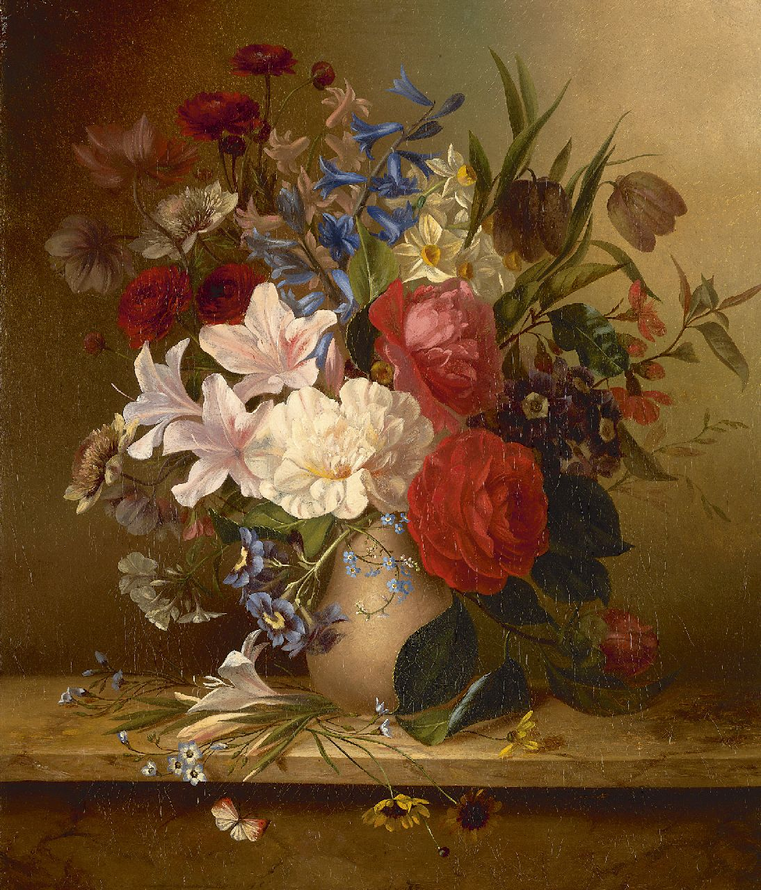 Arentina Hendrica Arendsen | Flower still life, oil on canvas, 45.4 x 38.6 cm, signed l.r.