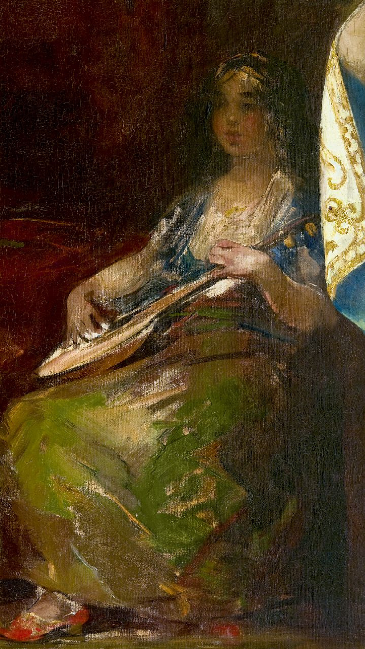 Smith H.  | Hobbe Smith | Paintings offered for sale | Playing the lute, oil on canvas 105.7 x 60.5 cm