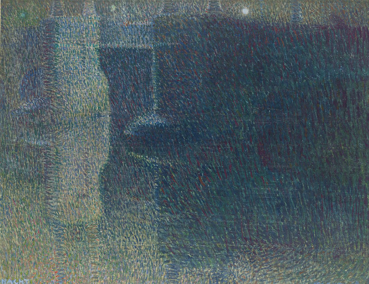 Gestel L.  | Leendert 'Leo' Gestel, Night (the Amstel Bridge over the Amstel River in Amsterdam), oil on canvas 52.0 x 64.8 cm, signed l.r. and dated '08