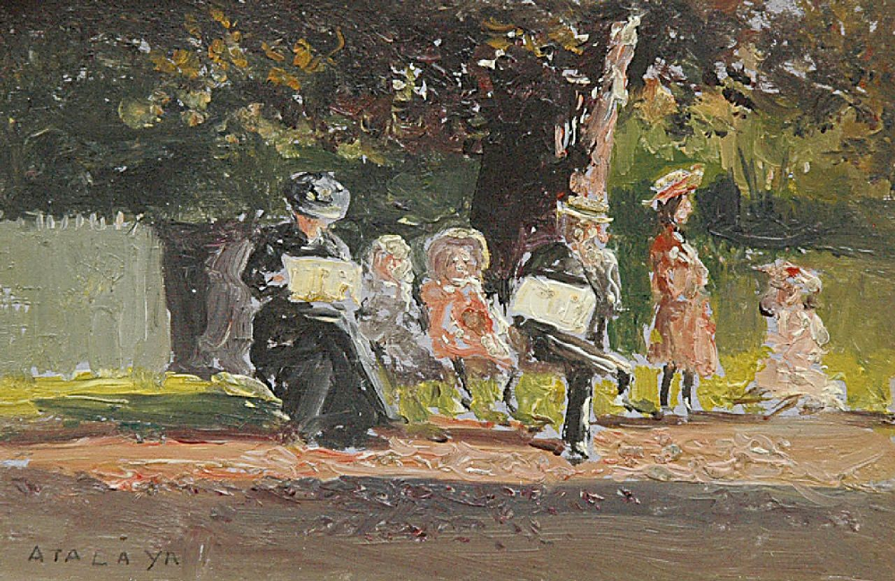 Enrique Atalaya González | Parc du Ranelagh, Paris, oil on paper, 7.4 x 10.9 cm, signed l.l. and dated 7-10-06 on the reverse on card