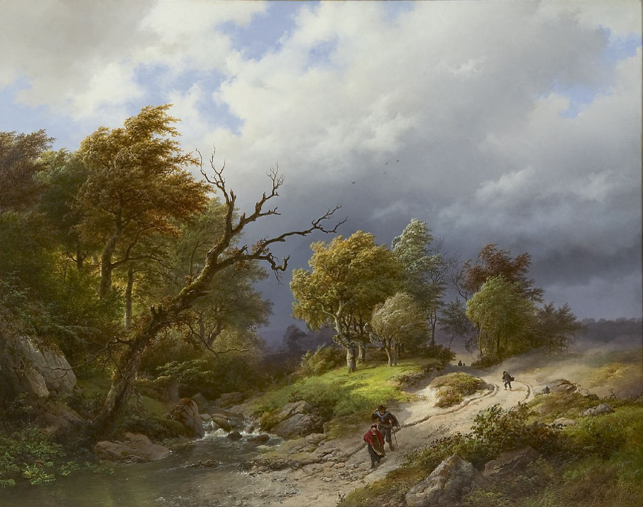Koekkoek B.C.  | Barend Cornelis Koekkoek, Upcoming storm, oil on panel 65.5 x 83.7 cm, signed l.r. and dated 1843
