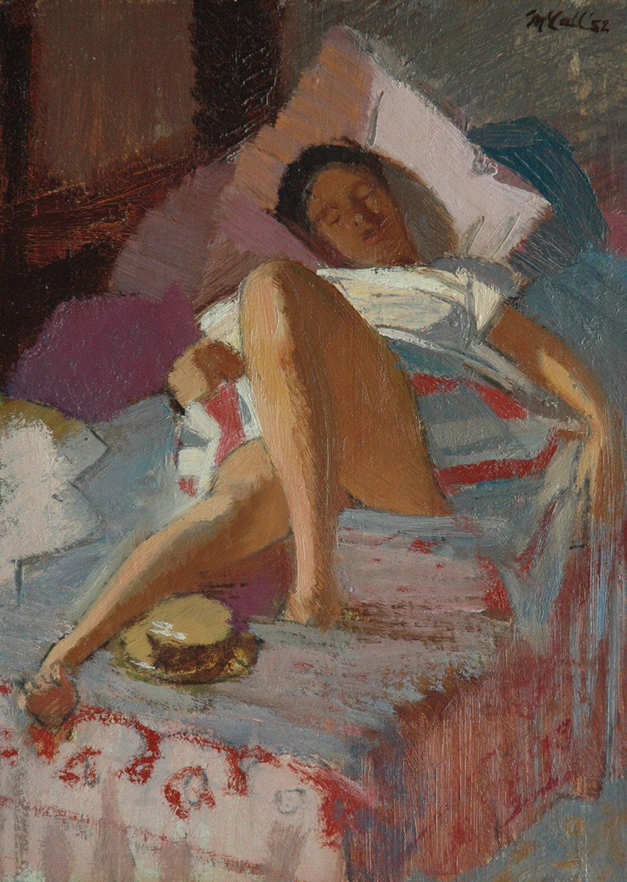 McCall C.J.  | Charles James McCall | Paintings offered for sale | 'Heatwave', oil on painter's board 33.1 x 24.0 cm, signed u.r. and dated '52
