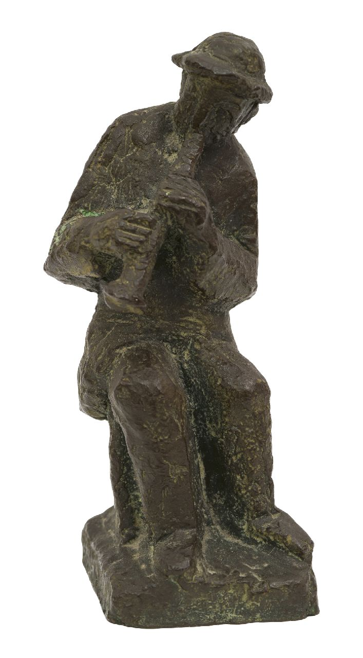 Andriessen M.S.  | Marie Silvester 'Mari' Andriessen | Sculptures and objects offered for sale | A flute player, bronze 16.5 x 6.4 cm, signed on the base