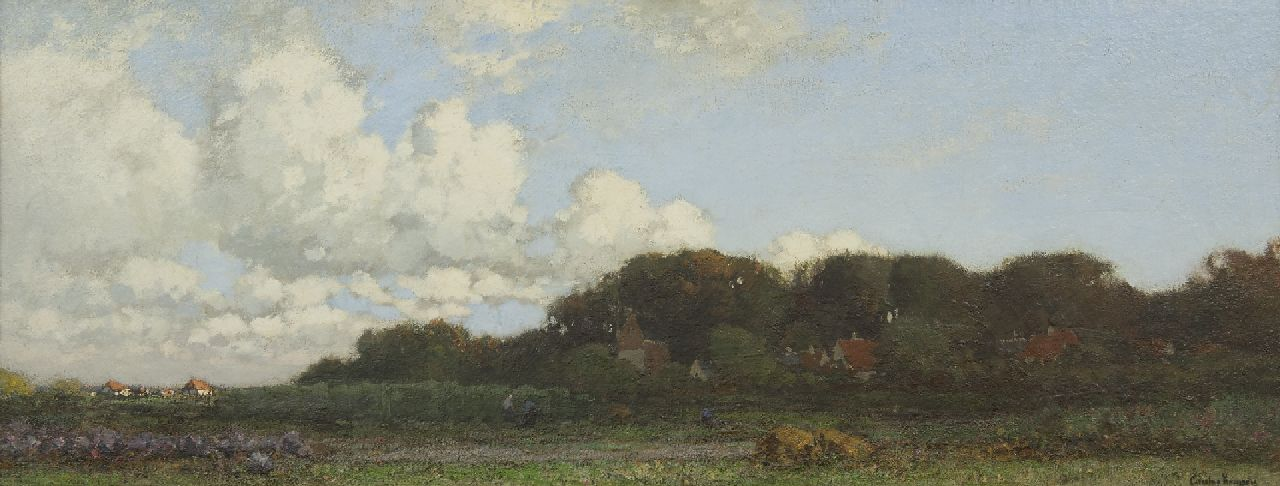 Kuijpers C.  | Cornelis Kuijpers | Paintings offered for sale | Dutch landscape near Heelsum, oil on canvas 51.0 x 132.0 cm, signed l.r.