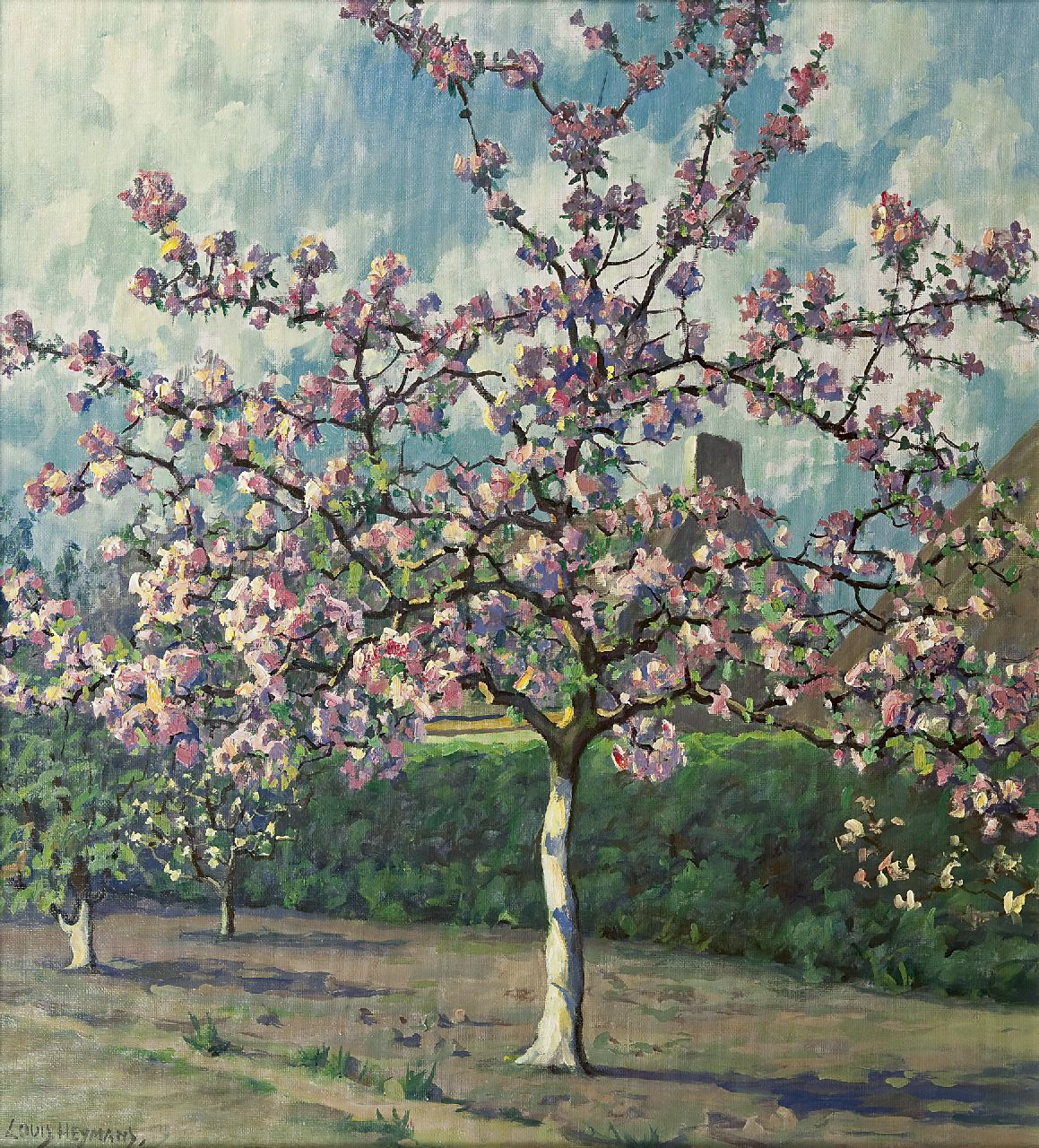 Heijmans L.  | Laurentius 'Louis' Heijmans, Flowering tree, oil on canvas 55.7 x 50.7 cm, signed l.l.