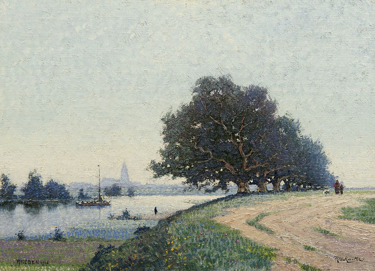 Frederik Rackwitsz | A view of the IJssel near Rheden, oil on canvas, 27.2 x 37.5 cm, signed l.r. and dated 1915