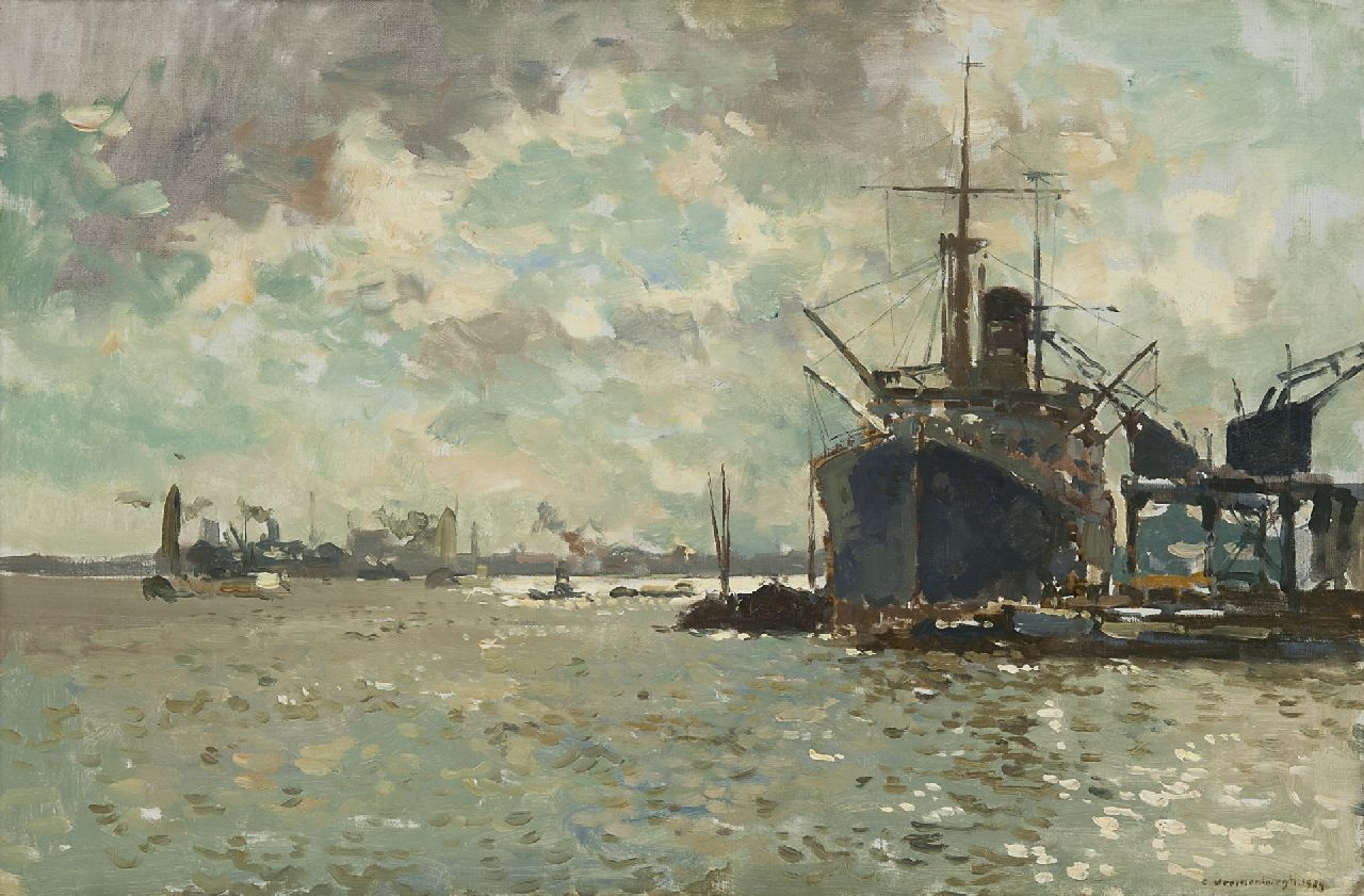 Vreedenburgh C.  | Cornelis Vreedenburgh | Paintings offered for sale | On the river, oil on canvas 40.4 x 60.2 cm, signed l.r. and dated 1924