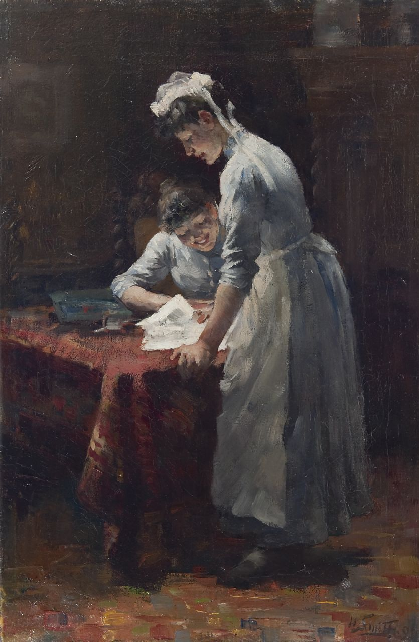 Smith H.  | Hobbe Smith | Paintings offered for sale | The housemaids, oil on canvas 59.5 x 38.9 cm, signed l.r. and dated '99