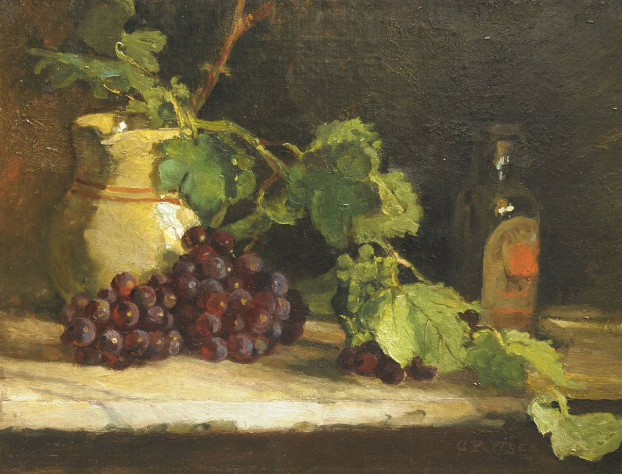 George Pletser | A still life with grapes, oil on canvas, 42.5 x 55.5 cm, signed l.r.