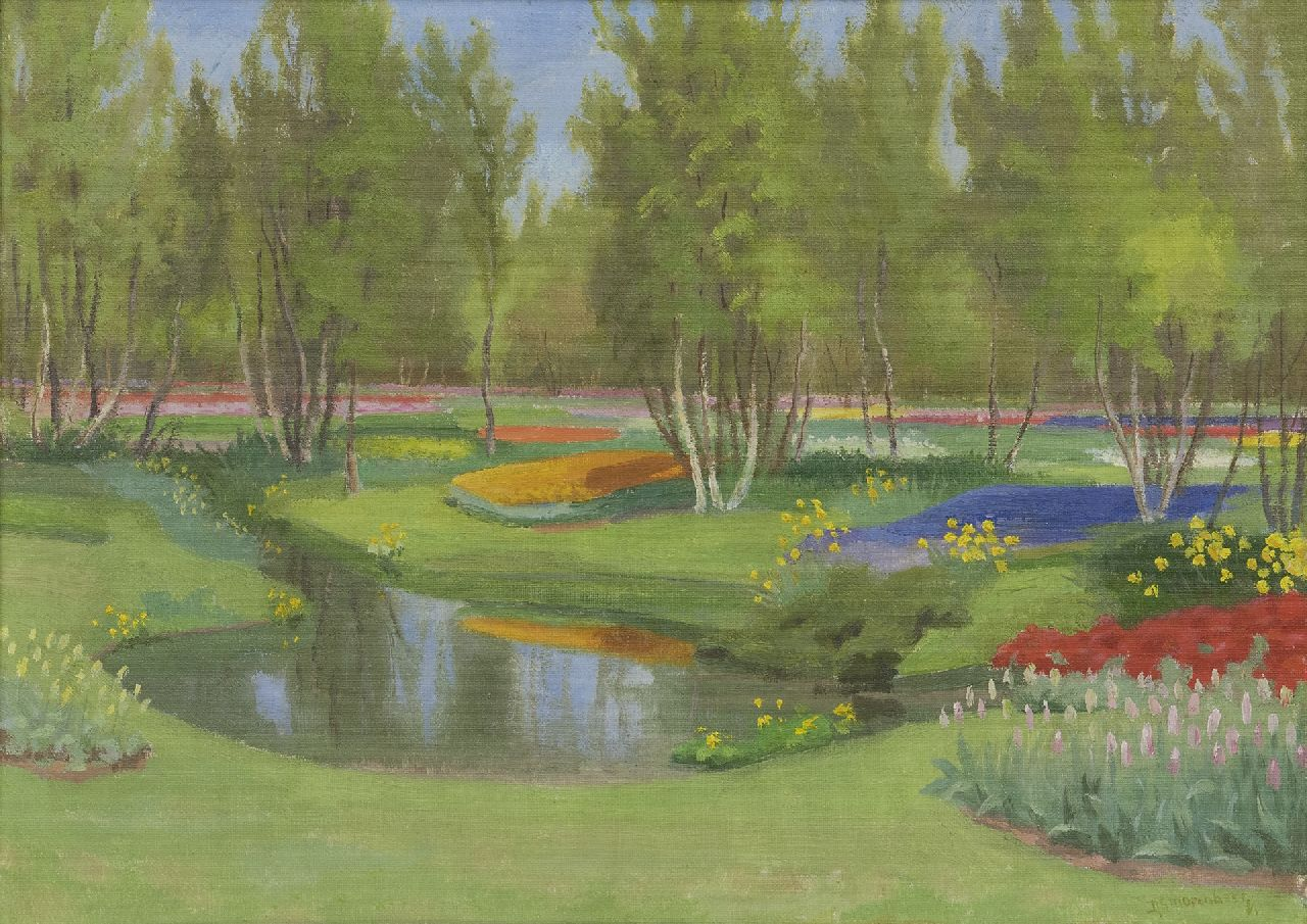 Smorenberg D.  | Dirk Smorenberg | Paintings offered for sale | The Keukenhof, oil on canvas 40.3 x 55.5 cm, signed l.r.