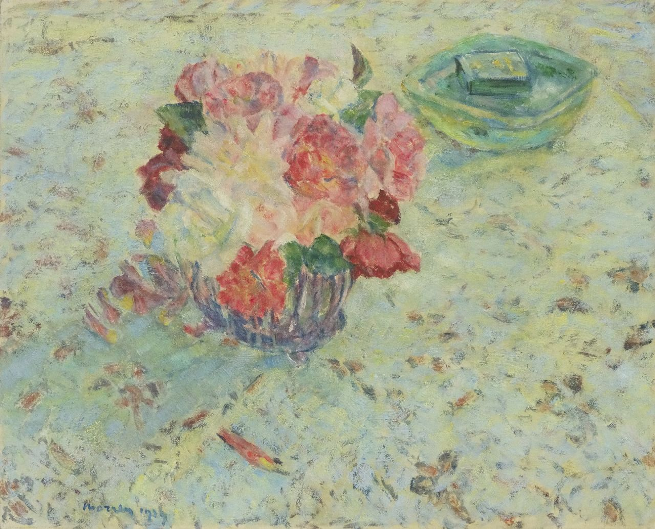 Georges Morren | Roses, oil on canvas, 44.9 x 55.5 cm, signed l.l. and dated 1939