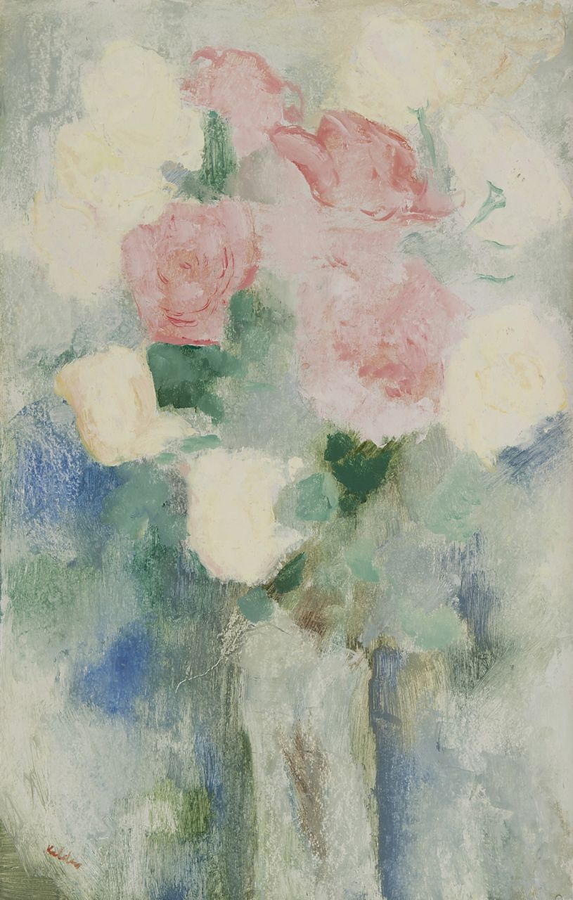 Kelder A.B.  | Antonius Bernardus 'Toon' Kelder | Paintings offered for sale | Still life with roses, oil on board 52.1 x 33.2 cm, signed l.l.