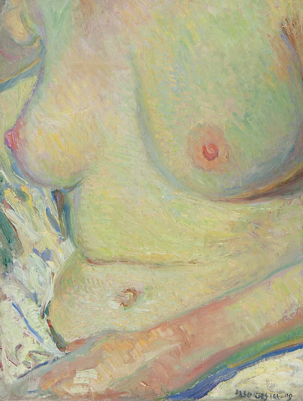 Gestel L.  | Leendert 'Leo' Gestel | Paintings offered for sale | Woman bathing, oil on canvas 33.5 x 25.6 cm, signed l.r. and dated '09