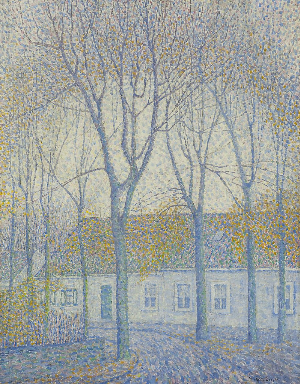 Mies Elout-Drabbe | Autumn in Domburg, oil on canvas, 69.9 x 54.9 cm, signed l.r. and dated 'Domburg' 1912