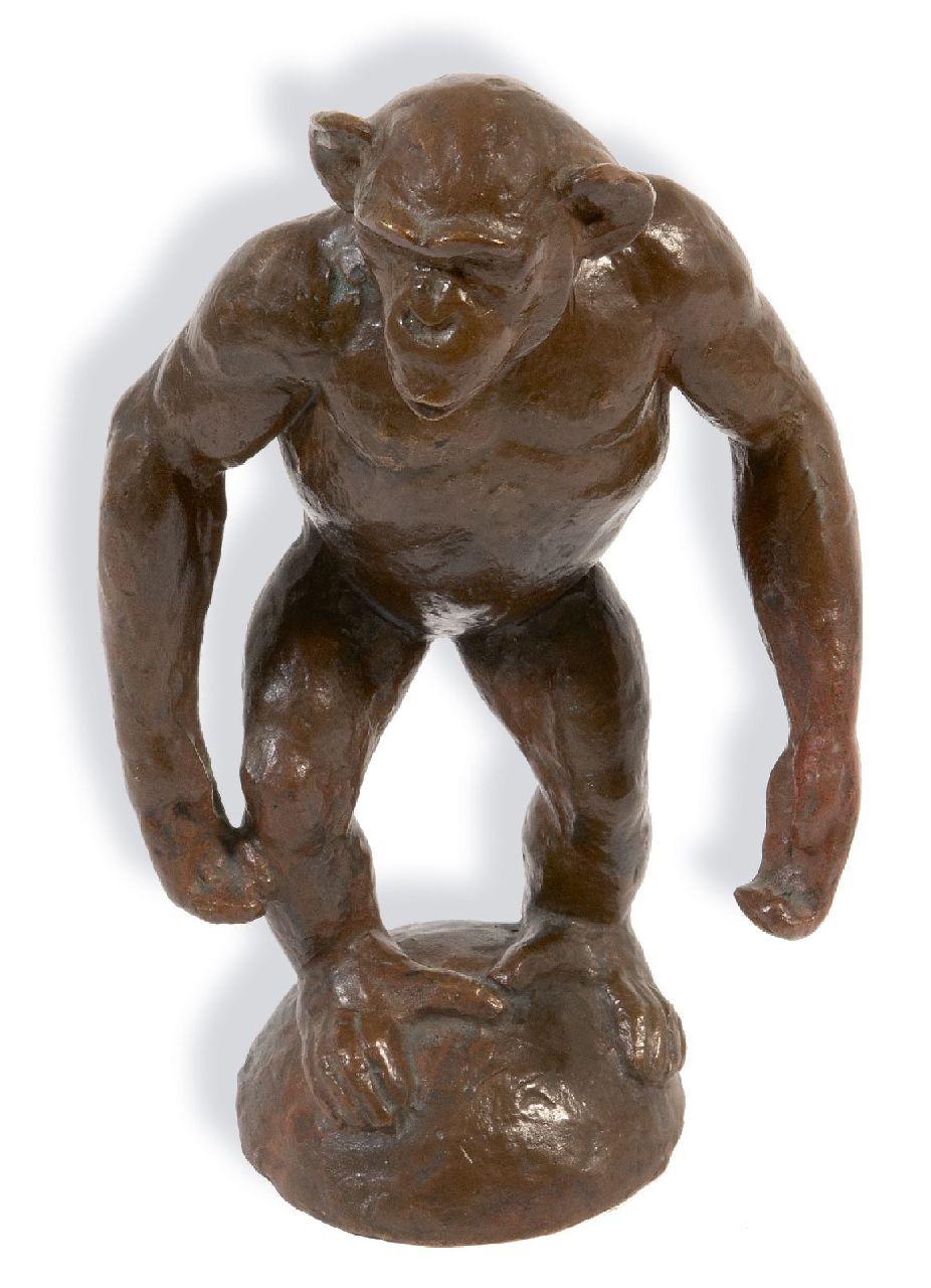 Franz Barwig | Chimpanzee, bronze, 22.0 x 12.0 cm, signed on the base with initials