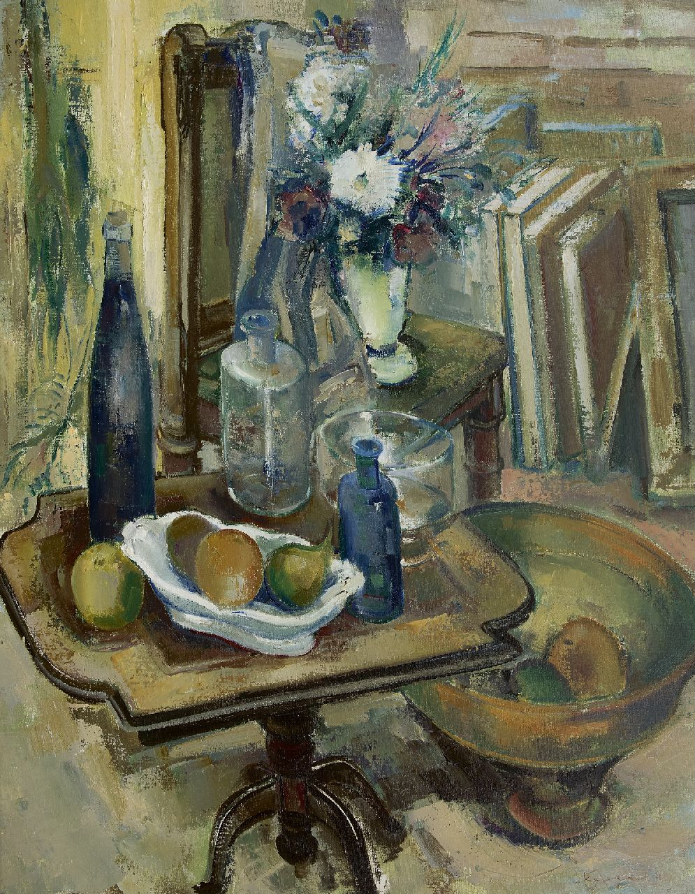 Colnot K.M.H.  | 'Karel' Marinus Hendrikus Colnot, Studio still life, oil on canvas 95.2 x 75.3 cm, signed l.r. and dated '72