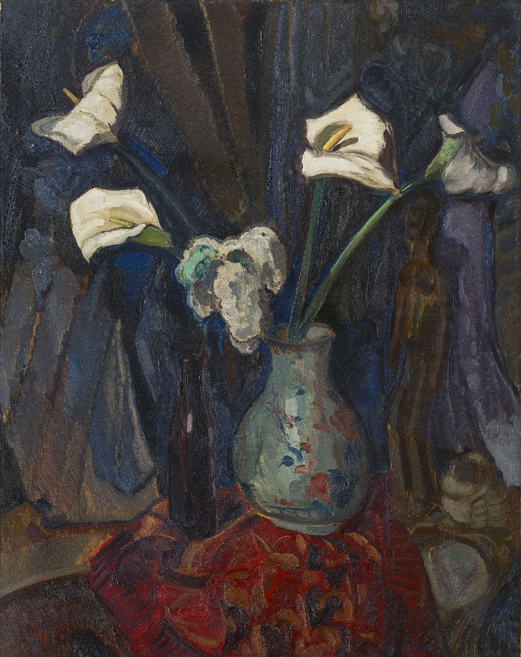 Filarski D.H.W.  | 'Dirk' Herman Willem Filarski | Paintings offered for sale | Arums in a vase, oil on canvas 100.5 x 80.2 cm, signed l.l. and painted ca. 1918-1922