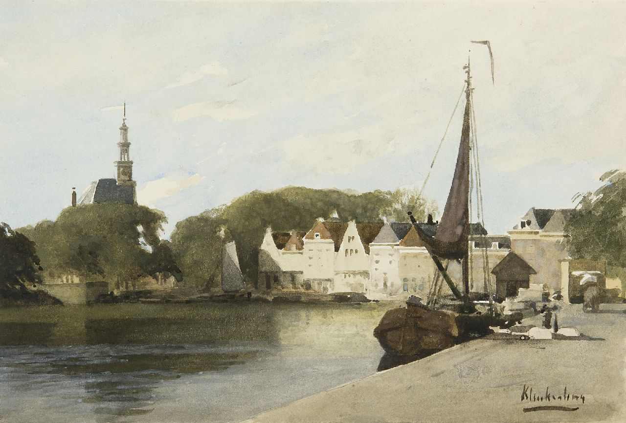 Klinkenberg J.C.K.  | Johannes Christiaan Karel Klinkenberg, The harbour of Hoorn, watercolour on paper 16.8 x 24.7 cm, signed l.r.