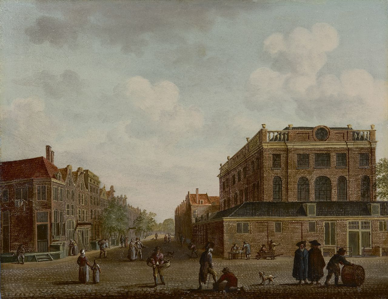 Fredericus Theodorus Renard | Portuguese Synagogue in Amsterdam, oil on panel, 33.8 x 43.8 cm, late 18th century