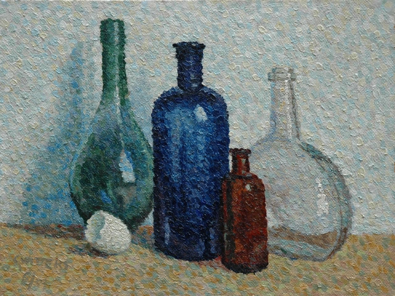 Cornelis Witters | Still life with bottles, oil on board, 34.5 x 45.8 cm, signed l.l. and painted  '67