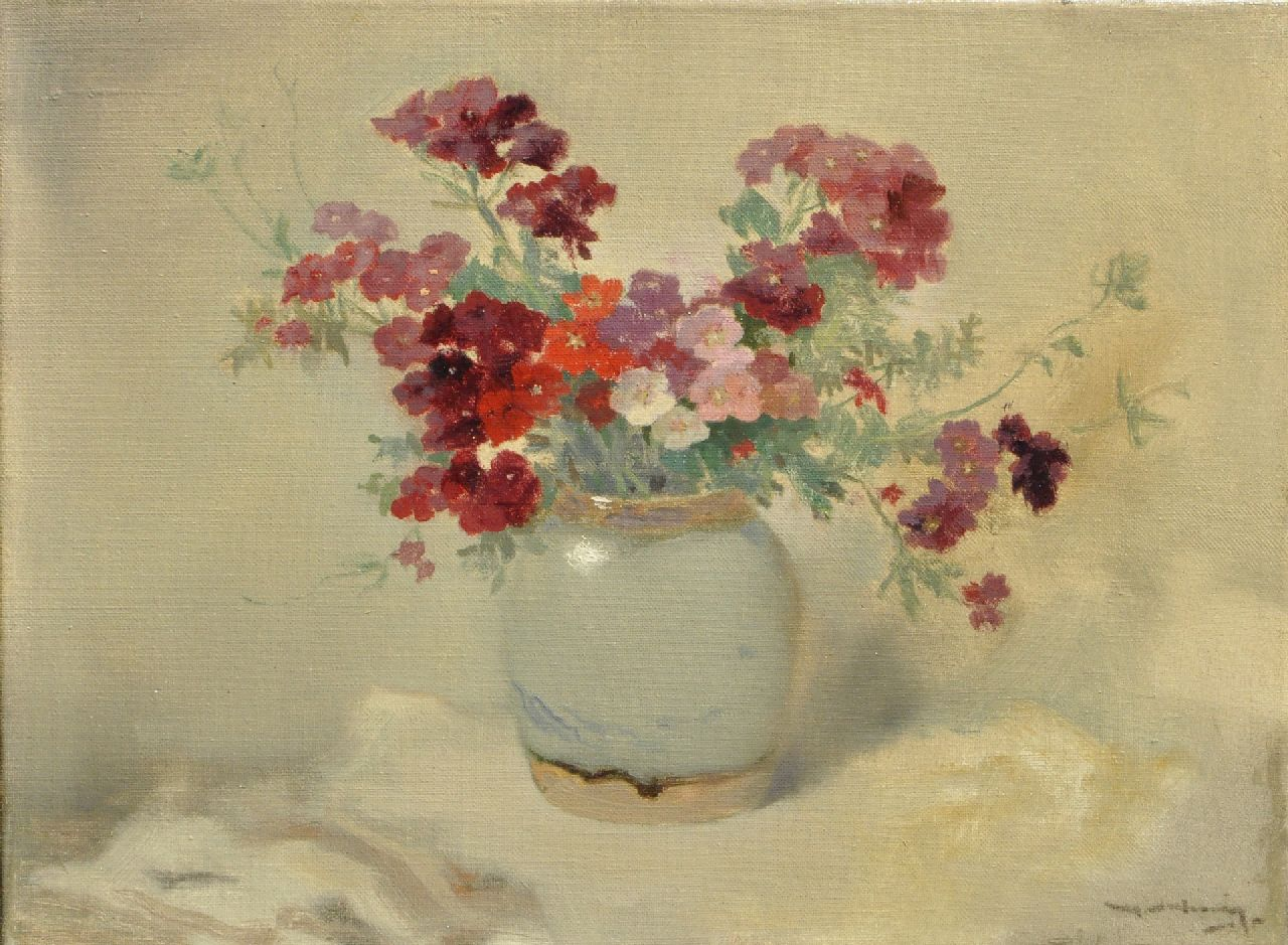 Ype Wenning | Summer flowers, oil on canvas, 30.1 x 40.1 cm, signed l.r.