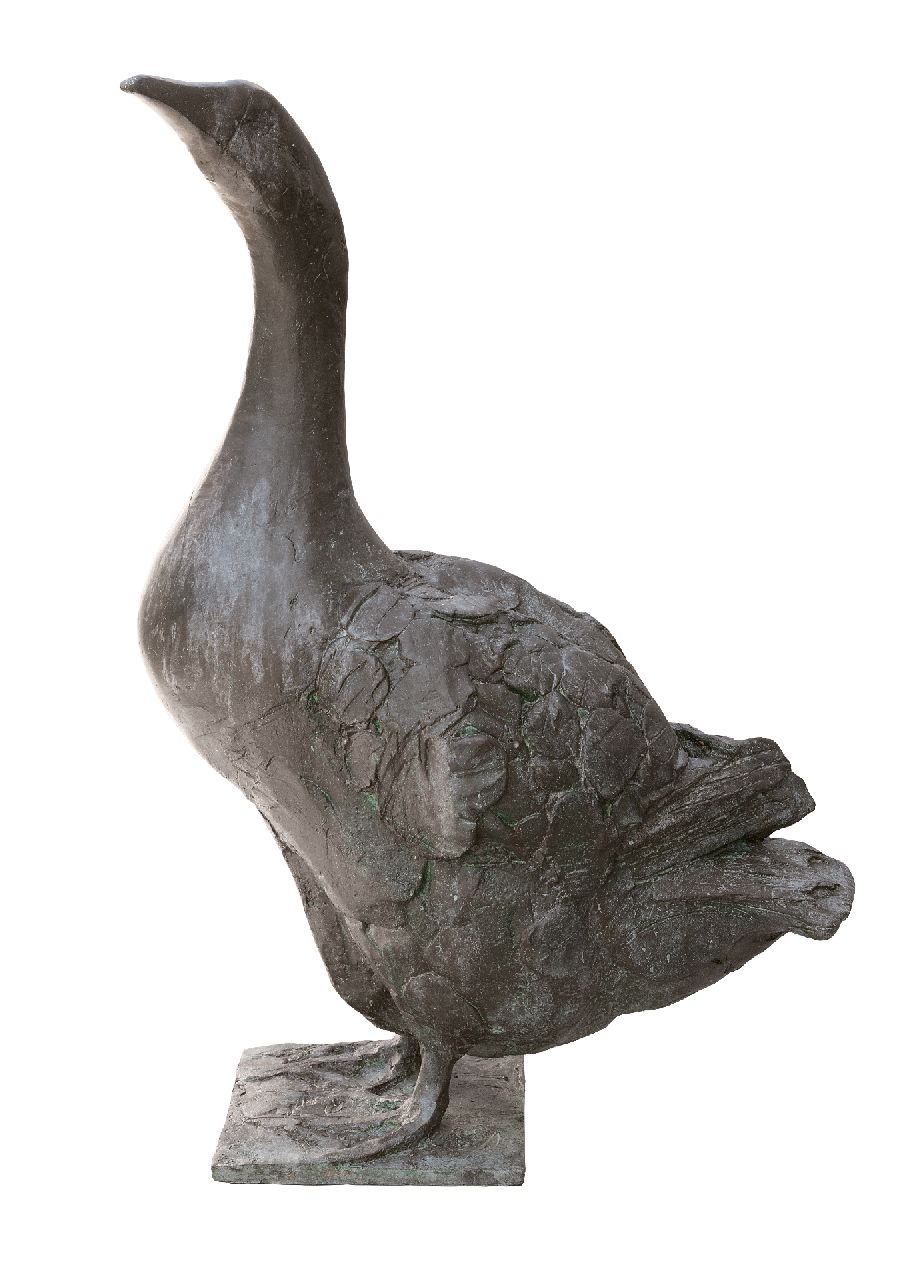 Coba Koster | Goose, bronze, 67.0 x 25.0 cm, signed on the base and dated '89