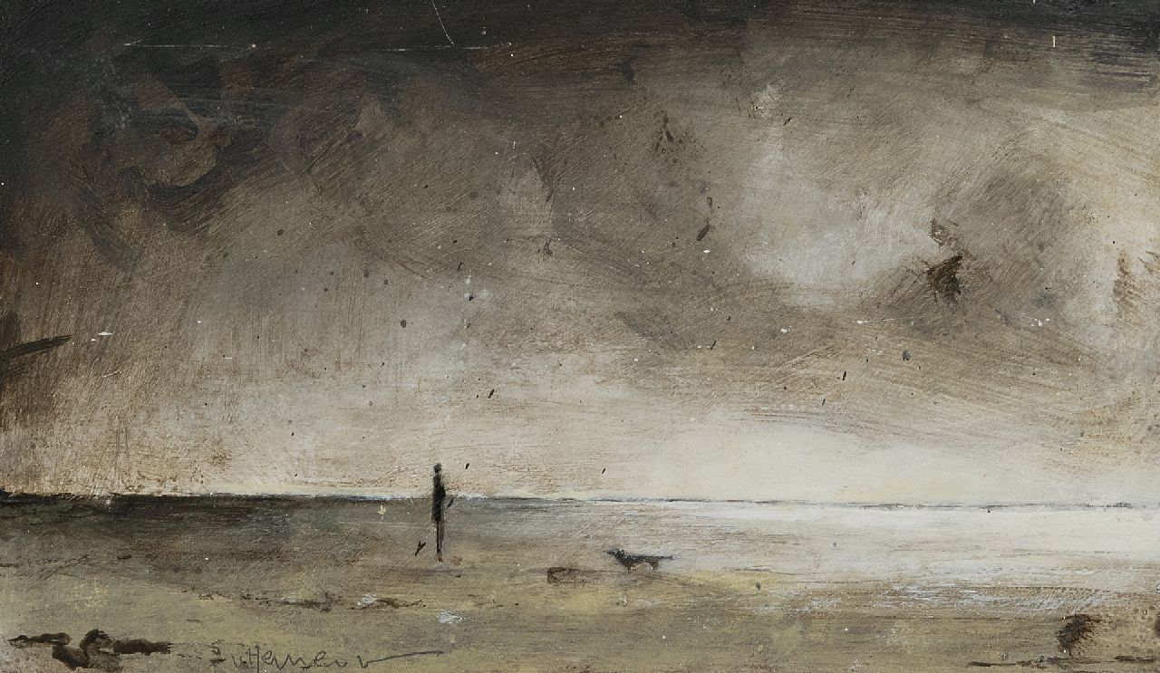 Hemert E. van | Evert van Hemert | Paintings offered for sale | Terschelling, acrylic on board 16.0 x 27.8 cm, signed l.l. and dated 2015 on the reverse