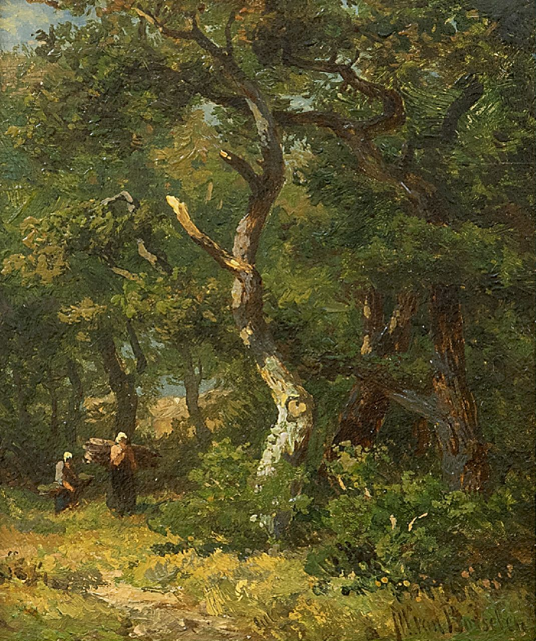Borselen J.W. van | Jan Willem van Borselen | Paintings offered for sale | Forest, oil on panel 11.0 x 9.0 cm