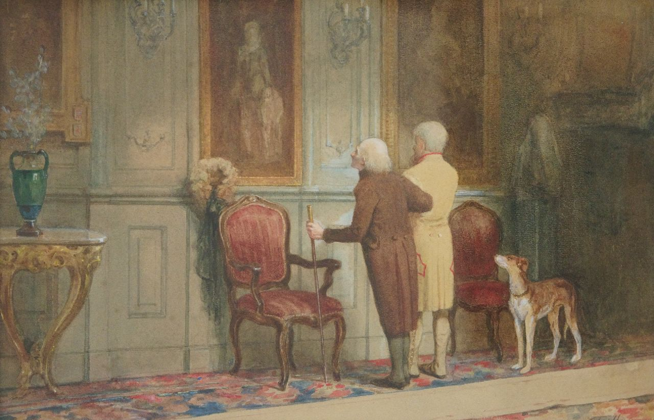 Jozef Hoevenaar | Tour of the family, watercolour on paper, 31.0 x 47.5 cm, signed l.r.