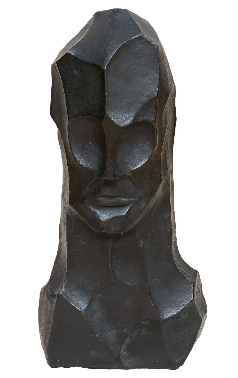 Bieling H.F.  | Hermann Friederich 'Herman' Bieling | Sculptures and objects offered for sale | Head, patinated bronze 43.7 x 19.0 cm, executed in the 1920's