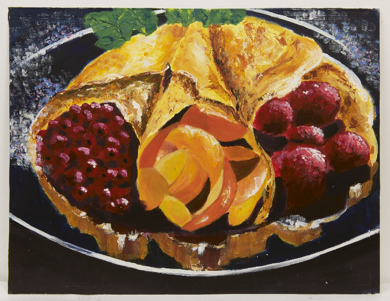 Onbekend, 20e eeuw   | Onbekend, 20e eeuw | Watercolours and drawings offered for sale | Crêpes with fruit, gouache on paper 54.8 x 71.0 cm