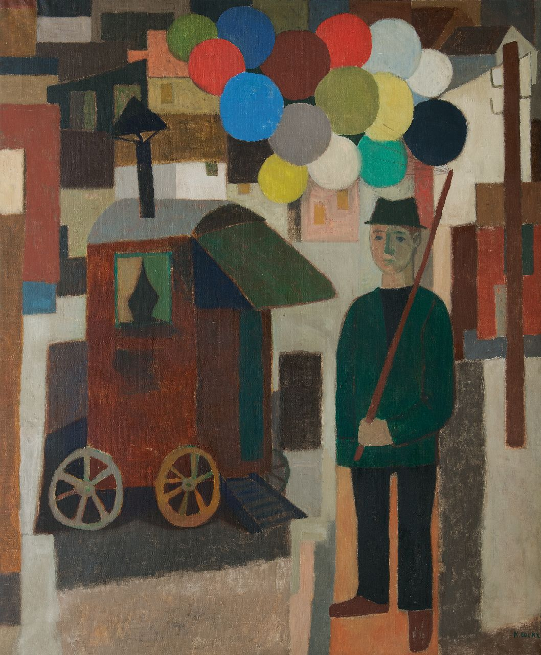 Cockx M.  | Marcel Cockx | Paintings offered for sale | Balloon seller, oil on canvas 178.9 x 150.3 cm, signed l.r.
