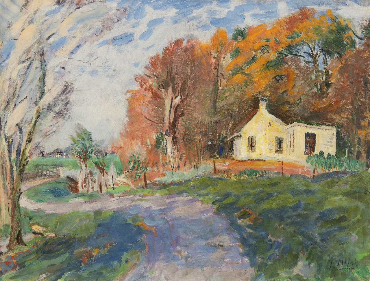 Altink J.  | Jan Altink | Paintings offered for sale | Landscape with a house, oil on canvas 60.3 x 78.0 cm, signed l.r.