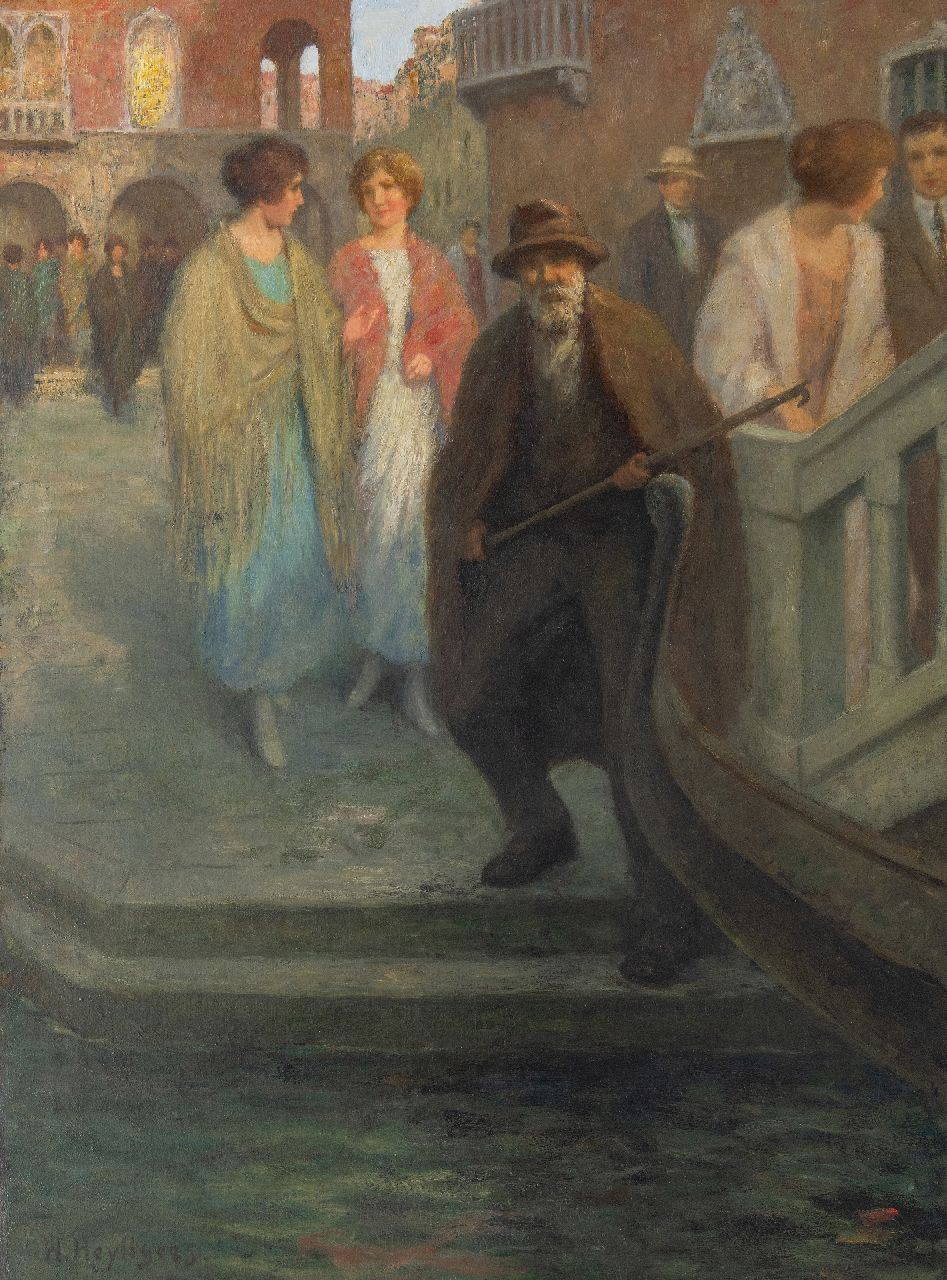 Henri Heijligers | In Venice, oil on canvas, 100.3 x 75.4 cm, signed l.l.