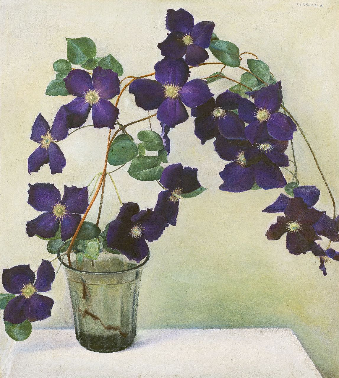 Wittenberg J.H.W.  | 'Jan' Hendrik Willem Wittenberg | Paintings offered for sale | Clematis, oil on canvas 50.6 x 45.4 cm, signed u.r. and dated 1941