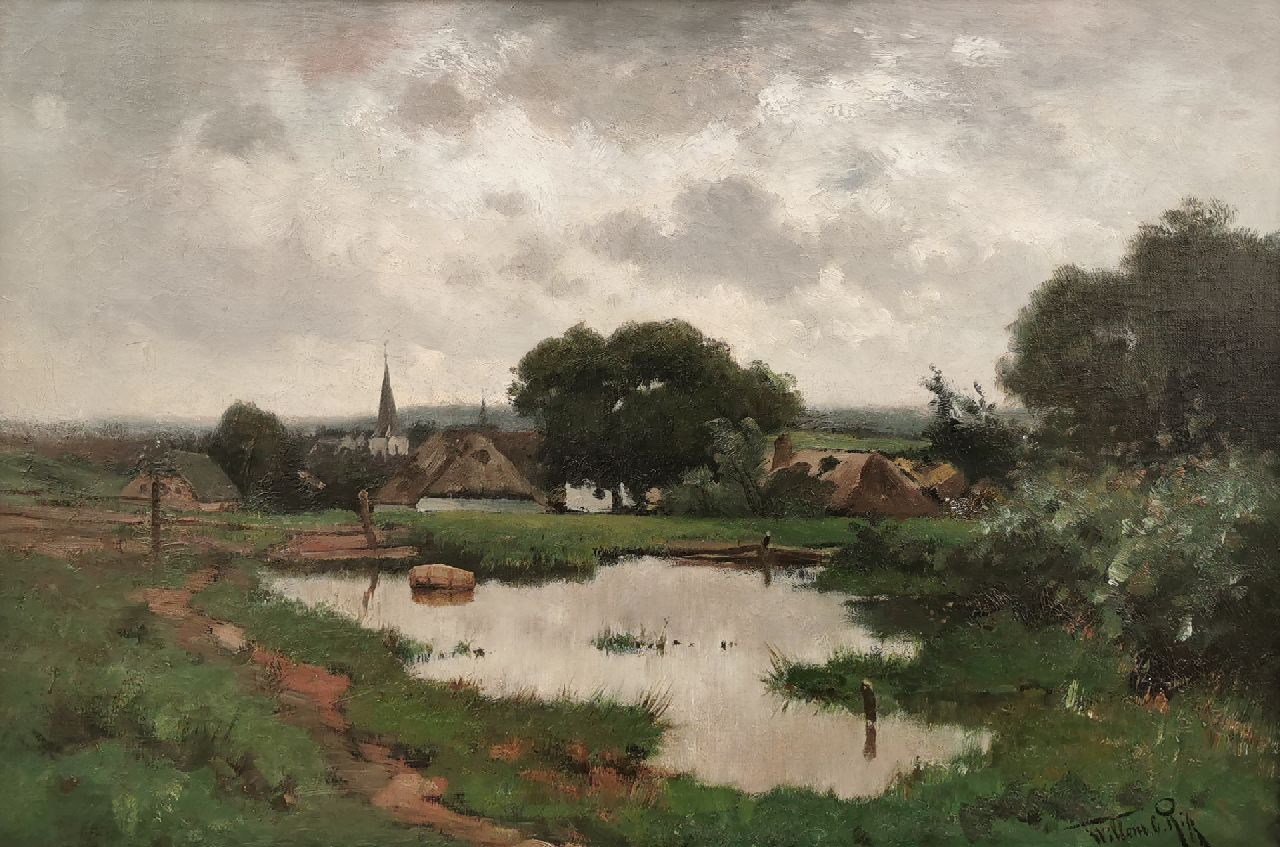 Rip W.C.  | 'Willem' Cornelis Rip | Paintings offered for sale | A view of Groesbeek, oil on canvas 45.0 x 66.0 cm, signed l.r. and dated on the reverse '88